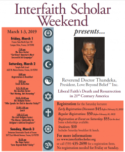 Liberal Faith's Death and Resurrection in 21st Century America @ Fresno, CA